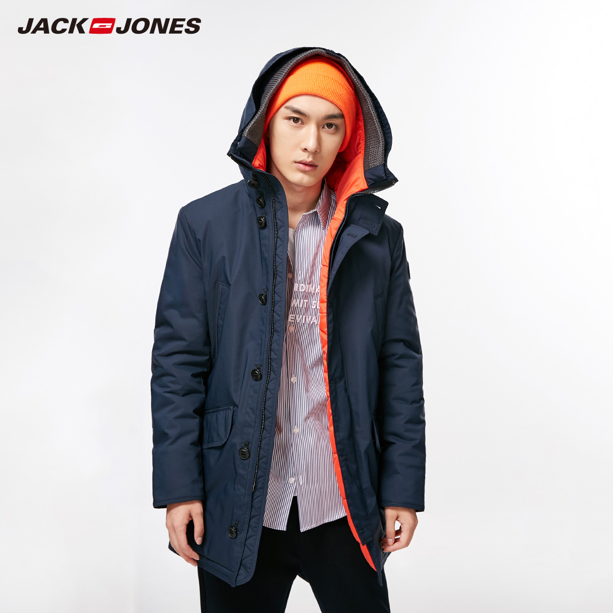 JACK JONES 杰克琼斯 218309511 男士连帽棉服夹克