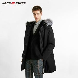 JACK JONES 杰克琼斯 218412518 男士中长款鹅绒服