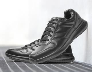 SKECHERS 斯凯奇 65411 男士绑带软底皮鞋