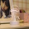 Menelaus 平面3D小夜燈 三色調光 插電款