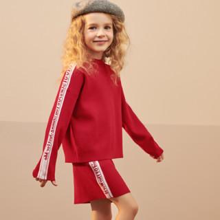 Mini Peace 太平鸟童装 女童针织衫半身裙 两件套
