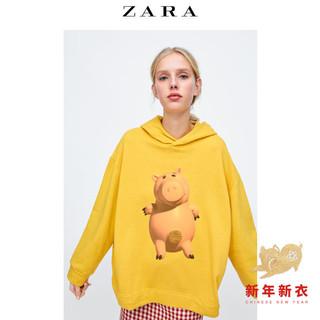 ZARA 04873180305 女士连帽卫衣 (S、芥末色)