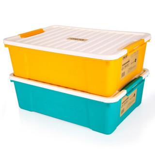 亿高EKOA床底收纳箱扁衣物整理箱床下储物箱收纳盒组合2个装35L