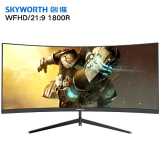 Skyworth 创维 30C1 30英寸 VA显示器 (2560*1080、FreeSync、72%NTSC)