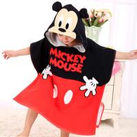 Disney 迪士尼 兒童連帽浴巾  男寶寶 *4件