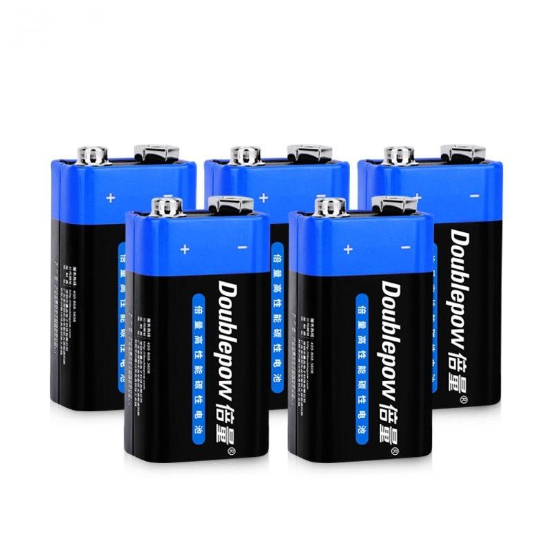倍量 6F22 方形碳性电池 9V 5节装