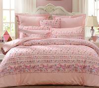 富安娜家紡 全棉四件套純棉床上用品4件套1.5米床單被套 公主小妹 1.8米床230*229