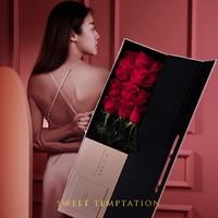FlowerPlus 花加 蜜诱 枪炮红玫瑰 12枝 + 睡裙 鲜花礼盒