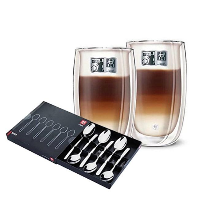 ZWILLING 双立人 双层隔热拿铁杯 6件套+ Nova咖啡勺 6只