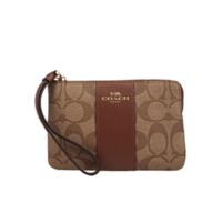 COACH 蔻馳 奢侈品 女士卡其色PVC錢包手拿包 F58035 IME74