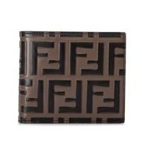 FENDI 芬迪 Embossed FF Logo 男士短款钱包