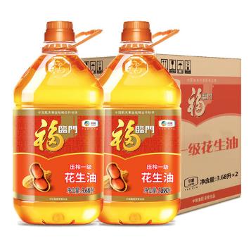 福临门 家香味 压榨一级花生油 3.68L*2桶
