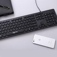 Aigo 爱国者 朋克风格有线键盘 经典黑