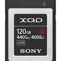 Sony 索尼专业 120GB XQD 存储卡 G 系列(可达 440MB/s 读取)带文件救援软件