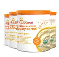 HappyBaby 禧貝 嬰幼兒有機混合谷物米粉 198g 4罐裝