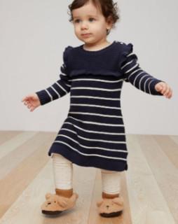 GAP 盖璞 婴儿纯棉长袖连衣裙