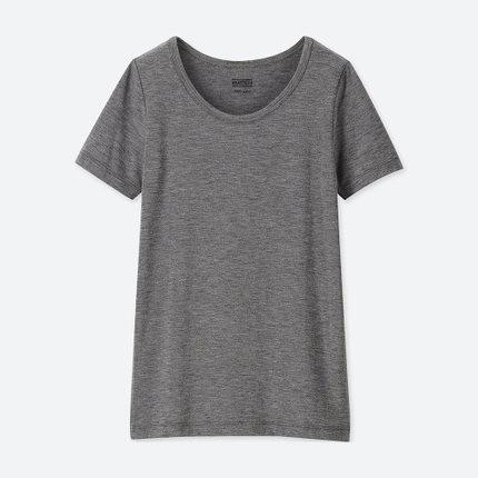 UNIQLO 优衣库 女童 HEATTECH U领T恤