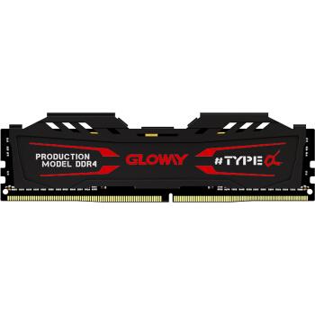 GLOWAY 光威 TYPE-α系列 DDR4 16GB 2666 台式机内存(石墨灰)