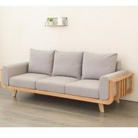 原始原素 SF-SF1602 橡木布艺沙发组合 三人位