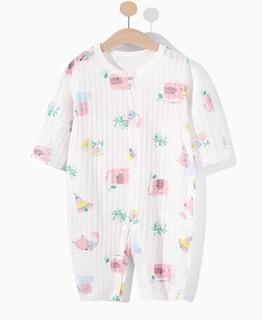 篮粉象 婴儿连体衣