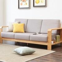 维莎 w0489 日式纯实木沙发 三人位