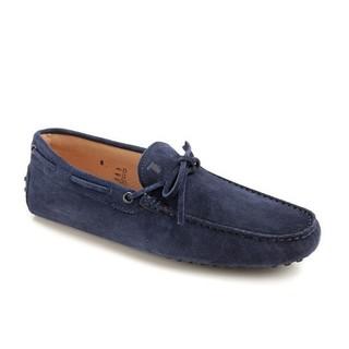 TOD'S 托德斯 30385441 男士蓝色小牛皮豆豆鞋