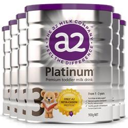 a2 艾尔 白金版 婴幼儿配方奶粉 3段 900g 6罐装