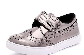 BeLLE 百丽 儿童金属色板鞋