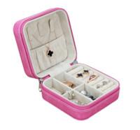 悅利(Richblue) 首飾收納盒 便攜戒指耳墜收納盒 收納用品 粉紫色1876