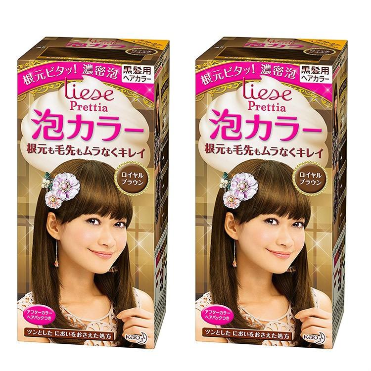 KAO 花王 Prettia泡沫染发膏浅棕色 2套