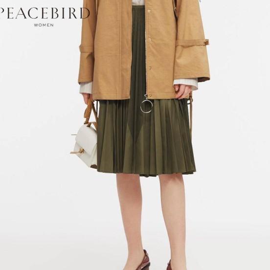 PEACEBIRD 太平鸟 女士过膝长裙