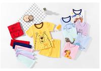 藍粉象 兒童夏季短袖套裝 *2件
