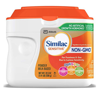 Similac 雅培 Sensitive 婴幼儿奶粉 Non-GMO 638g 6罐装