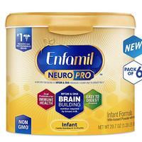 Enfamil 美赞臣 NeuroPro 婴儿配方奶粉 587g 6件装