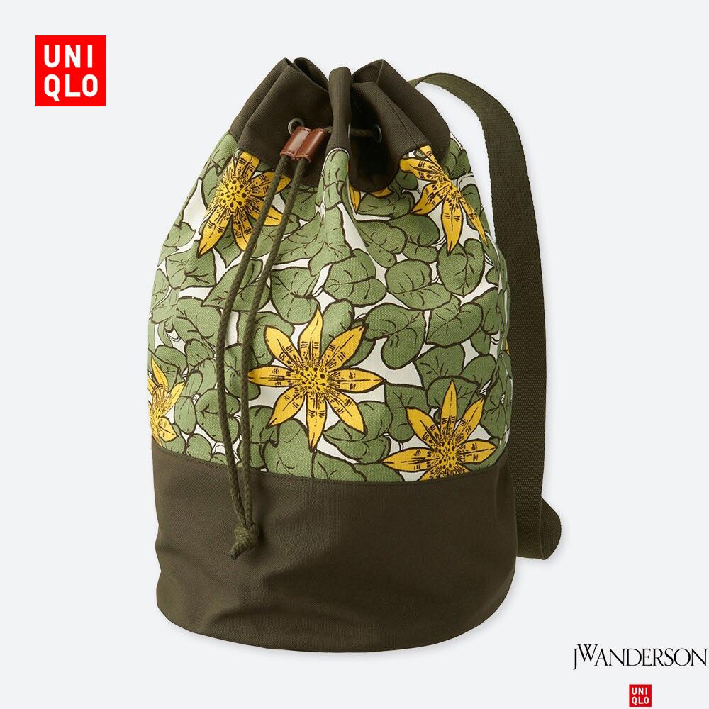 UNIQLO 优衣库 417626 中性休闲包 设计师合作款 (棉100%、30 × 30 × 52 cm、翠绿色)
