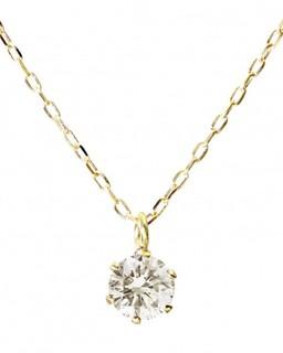 GLADD 天然钻石 0.2ct K18金项链