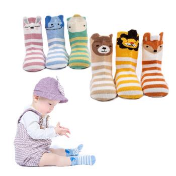 9i9久爱久婴儿袜子点胶防滑袜宝宝地板袜卡通儿童袜6双装1800702
