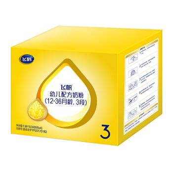 飞鹤飞帆 幼儿配方奶粉 3段(12-36个月幼儿适用) 1600g
