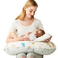乐孕 竹纤维+棉 多功能哺乳枕喂奶枕婴儿学坐枕抱枕哺乳垫喂奶垫喂奶神器 ly805s-d 小熊印花