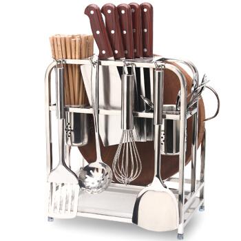 四季沐歌(MICOE)刀架砧板架不锈钢厨房置物架收纳菜板架厨房用品筷子筒 ZB01-3