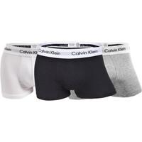 卡尔文·克莱恩(Calvin Klein)男士平角内裤 黑白灰三条装U2664G 998   M