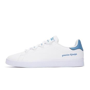 乔丹 男鞋板鞋小白鞋休闲鞋运动鞋男 XM2580311 白色/水洗蓝 42