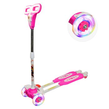 铠甲勇士 儿童滑板车 四轮闪光扭扭车 踏板车 粉色