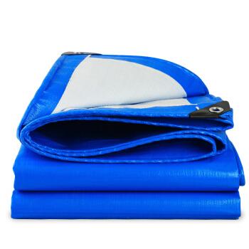 捷昇(JIESHENG) 加厚彩条布防雨布雨棚布帆布 PVC防水雨篷布油布苫布货车防晒遮阳雨蓬布 4米*7米