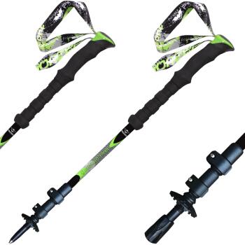 开拓者 PIONEER 登山杖99%碳素碳纤维 超轻外锁徒步手杖 新大陆5系黑色1支
