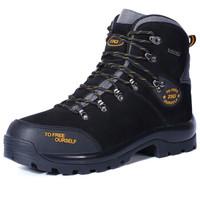 美國第一戶外登山靴防水徒步鞋防滑高幫男女真牛皮防水冬季運動