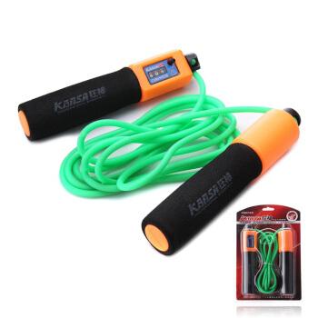 狂神PU计数跳绳健身器材家用瘦身运动减肥器材成人中考专用儿童跳绳KS0749 长度3米颜色随机 运动器材家用