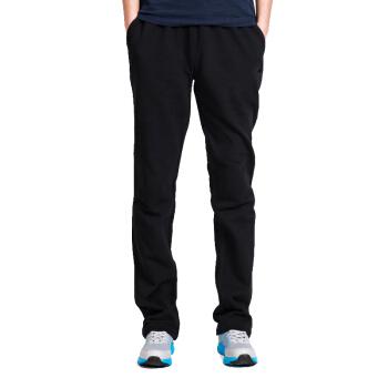 双星 纯棉运动裤男长裤 吸汗透气春季纯色直筒休闲卫裤 DML0043A 黑色 2XL