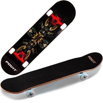 普为特POVIT 专业比赛枫木四轮滑板 儿童成人代步公路双翘板(专业版) p-3003