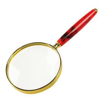 MIXOUT米欧特手持式高清放大镜 读书看报阅读鉴赏 玛瑙红纹礼品放大镜MX-Y80R